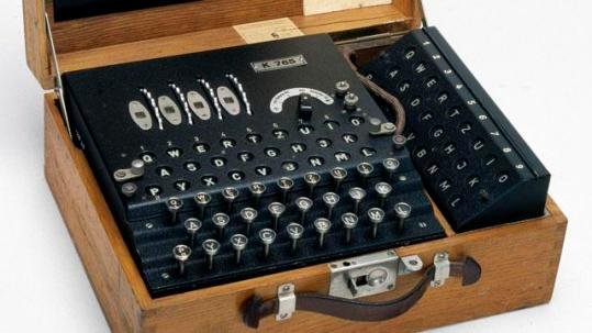 Four-rotor German Enigma cypher machine, 1939-1945.
