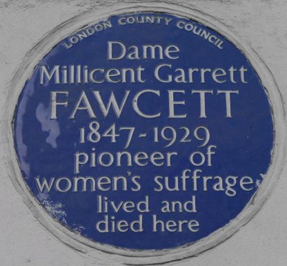 Millicent_Garrett_Fawcett_2_Gower_Street_blue_plaque
