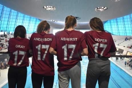 Swim team at Olympic pool