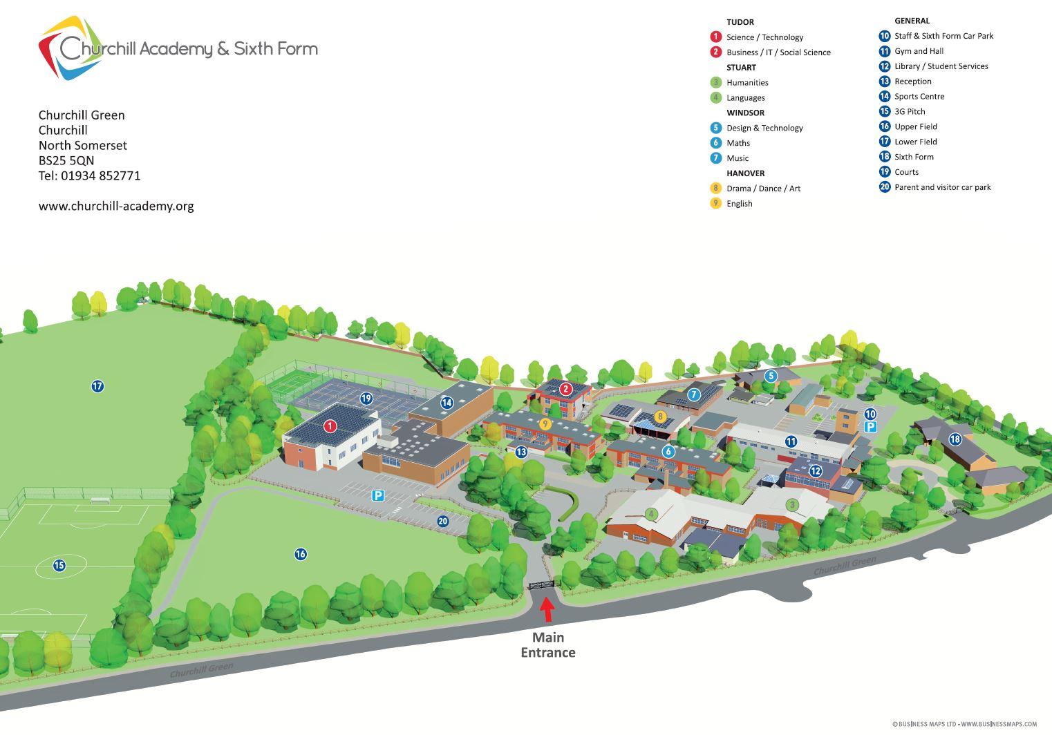 churchill_academy_3d_site_plan