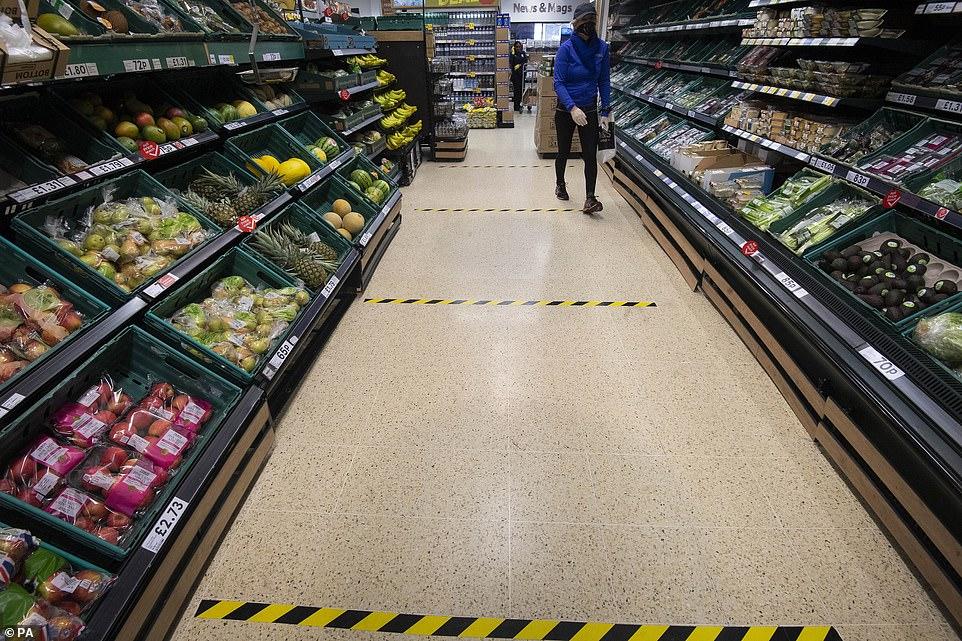 supermarket social distancign